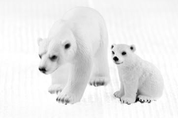 polar bear family toys