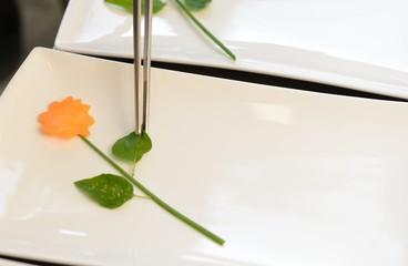 Geschnitzte Gemüsedeko