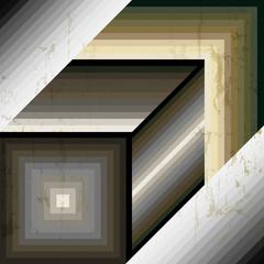grunge square background
