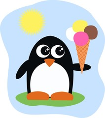 ice cream penguin summer
