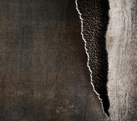 Wall Mural - grunge metal background with torn edges