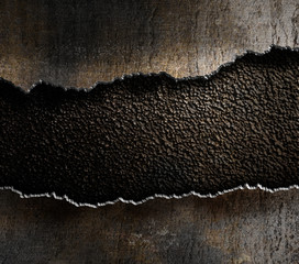 damaged metal torn edges background