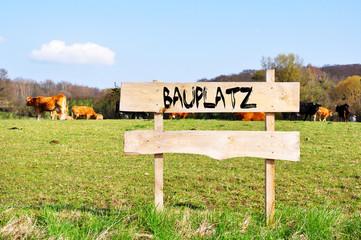 Fototapete - Bauplatz