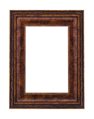 Vintage bronze picture frame isolated