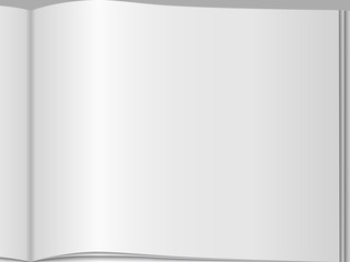 Close-up of blank page of an open magazine