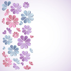 Beautiful background with paper flowers.