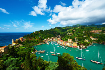 Portofino village on Ligurian coast, Italy