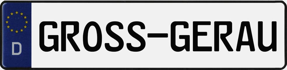 KFZ-Kennzeichen GROSS-GERAU