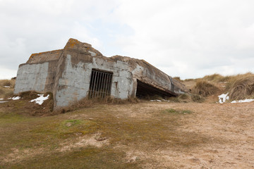 Bunker under the sand