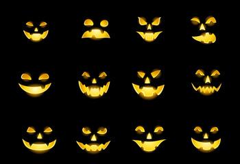Faces of Jack-o-lanterns