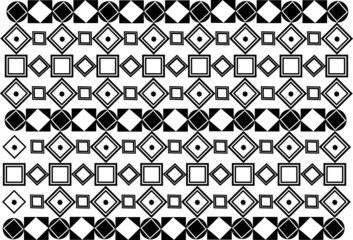 Black and white square pattern