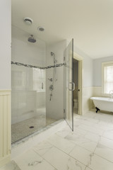 Luxury Master Bathroom with Enclosed Glass Shower