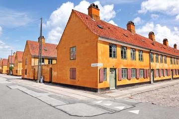 Nyboder, weltbekanntes Stadtviertel für Seeleute in Kopenhagen