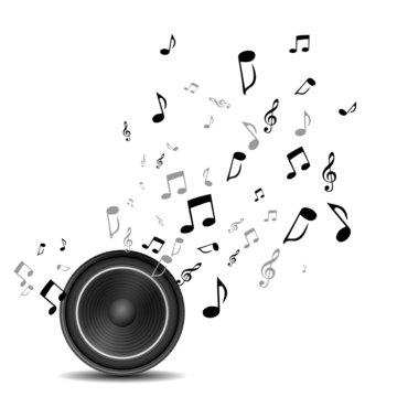 Lautsprecher Sound Noten