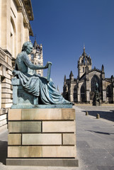 David Hume Statue, St. Giles Cathedral,Edinburgh, Scotland, UK