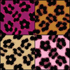 Seamless Leopard Print Textures