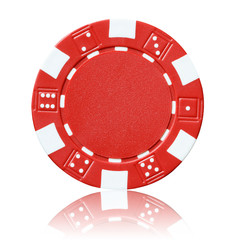 red poker chip