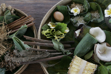 Organic herbs and spices for spa treatment in Bali