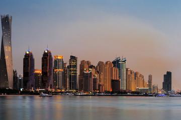 Printed roller blinds Sydney Dubai Marina skyline as seen from Palm Jumeirah, UAE