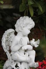 Ein Engel mit Taube auf dem Arm