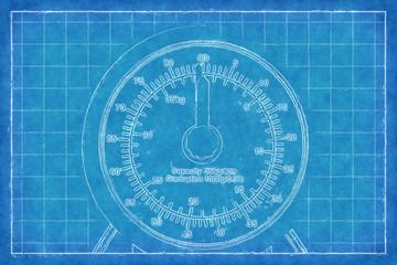 Kitchen scales - Blue Print