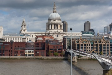 St. Paul's Cathedral and Millenium Bridge