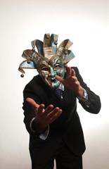 businessman mascherato
