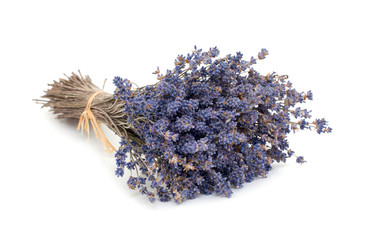dried bunch of lavender flowers