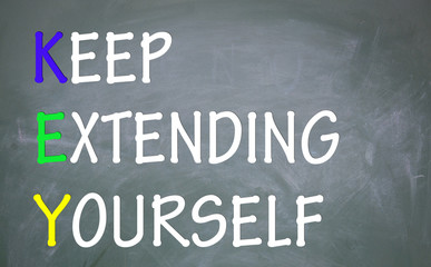 keep extending yourself symbol