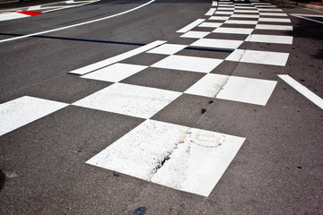 Car race asphalt