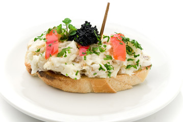 pincho de atun y mayonesa