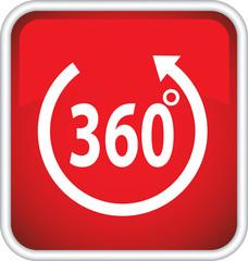 Красная иконка с надписью 360 градусов