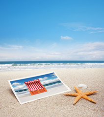 Postkarte mit Strandkorb