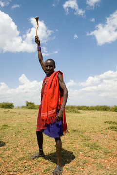 Native Masai warrior