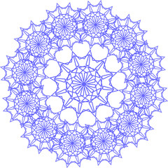 round lace pattern