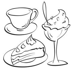 Cup, Cake, sundae