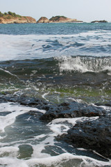 Marine landscapape with rocks in the sea