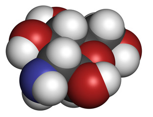 Glucosamine food supplement molecule.