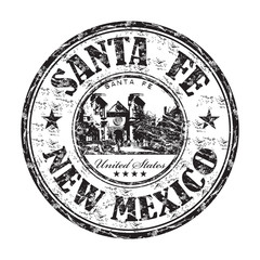 Santa Fe grunge rubber stamp