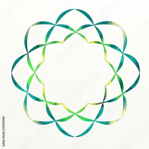 Green Lotus Flower Buddhist Symbol Soka Gakkai Stock Photo And