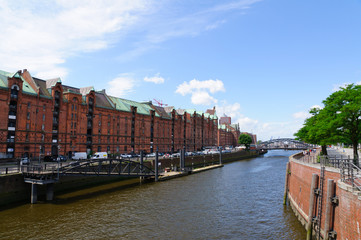 Warehouse district and the Port of Hamburg