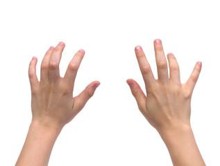 kid hands typing