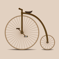 Penny-farthing. Old fashion bicycle.