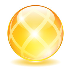 Yellow vector orb