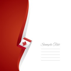 Canadian left side brochure cover vector