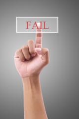 Hand pressing Fail