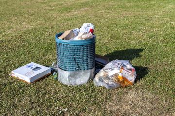 Abfall Verschmutzung Mülleimer