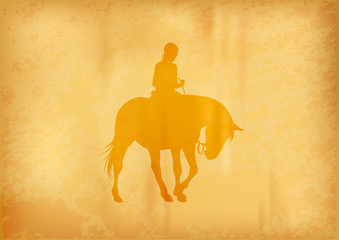 ridding horse