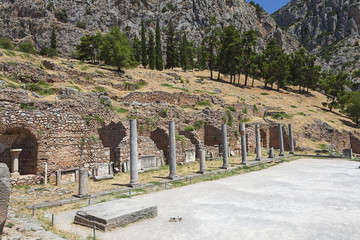 Fototapete - Delphi,Greece