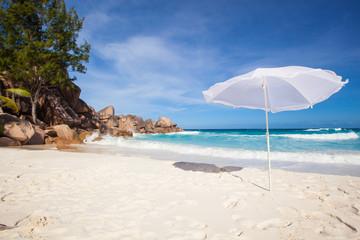 sunshade at a tropical beach